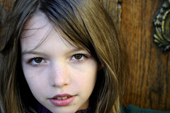 Beautiful young tourist portrait Royalty Free Stock Photo