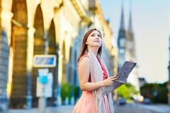 Beautiful young tourist in Vienna Stock Image