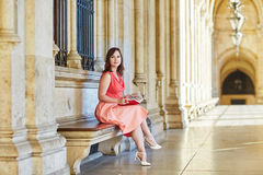 Beautiful young tourist in Vienna Royalty Free Stock Photo