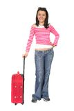 Beautiful young traveller Stock Photos