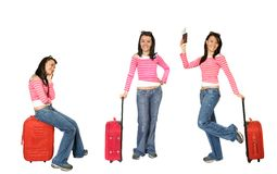 Beautiful young traveller Stock Photo