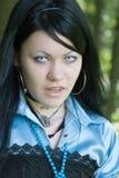 Beautiful young vampire girl stock photography