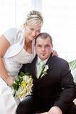 Beautiful young wedding couple Stock Photo