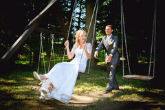 Beautiful young wedding couple Royalty Free Stock Image