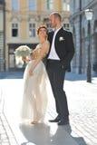 Beautiful young wedding couple Royalty Free Stock Photos