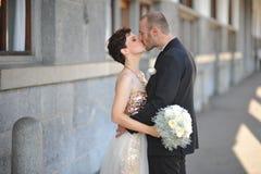 Beautiful young wedding couple Royalty Free Stock Image