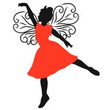 Beautiful young winged princess, dancing.  royalty free illustration