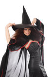 Beautiful young witch for Halloween stock photography