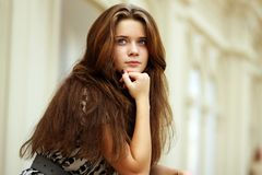 Beautiful young woman. Fashion portrait of a professional model Royalty Free Stock Images