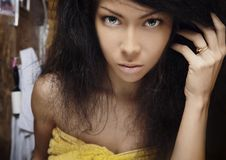 Beautiful young woman. Royalty Free Stock Images