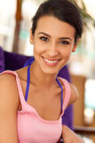 Beautiful Young Woman. Enjoying Lincoln Road mall in Miami Beach Stock Photography