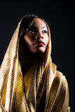 Beautiful Young Woman. A beautiful young woman in a fashionable hooded dress Royalty Free Stock Photos