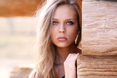 Beautiful young woman Stock Photos