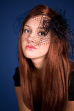 Beautiful young woman. With red hair Royalty Free Stock Images