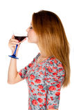 Beautiful young woman with alcoholic drink Royalty Free Stock Image