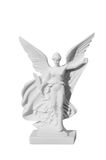 Beautiful young woman angel statue Stock Photos