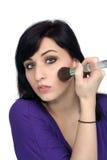 Beautiful Young Woman Applies Makeup (3) Royalty Free Stock Photography