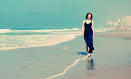 Beautiful Young Woman At The Beach Royalty Free Stock Photo