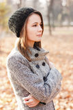 Beautiful young woman. Autumn Royalty Free Stock Photo