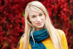 Beautiful young woman - autumn portrait Stock Photography