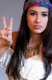 Beautiful Young Woman with Bandanna Royalty Free Stock Image
