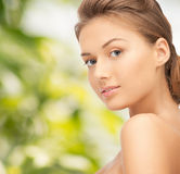 Beautiful young woman with bare shoulders Royalty Free Stock Image