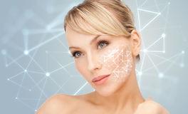Beautiful young woman with bare shoulders Royalty Free Stock Photography