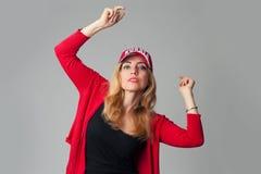 Beautiful young woman in a baseball cap Stock Photo