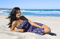 Beautiful young woman on the beach Royalty Free Stock Images