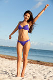 Beautiful Young Woman at the Beach Royalty Free Stock Photos