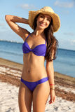 Beautiful Young Woman at the Beach Royalty Free Stock Image
