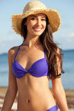 Beautiful Young Woman at the Beach Stock Image