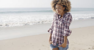 Beautiful Young Woman On A Beach Stock Photo