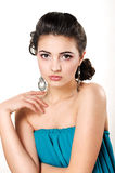 Beautiful woman. Beautiful young woman in beautiful jewelry Stock Photography