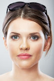 Beautiful young woman beauty close up face portrait Royalty Free Stock Photos