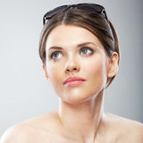 Beautiful young woman beauty close up face portrait Royalty Free Stock Photography