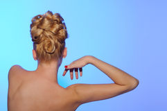 Beautiful young woman from behind Royalty Free Stock Photo
