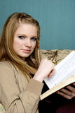 Beautiful Young Woman with  bible Stock Photos