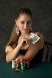 Beautiful Young Woman with Big Slick Stock Photos