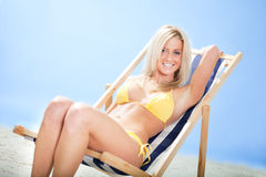 Beautiful young woman in bikini Royalty Free Stock Photo