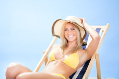Beautiful young woman in bikini Stock Photo