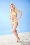 Beautiful young woman in bikini Royalty Free Stock Images