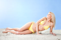 Beautiful young woman in bikini Royalty Free Stock Photography