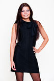Beautiful young woman in black dress Royalty Free Stock Photography