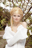 Beautiful young woman with blond Hair style. Natural beauty Stock Images