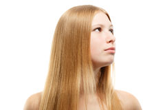 Beautiful young woman with blonde long hair Royalty Free Stock Photography