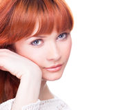 Beautiful young woman with blue eyes Royalty Free Stock Photo