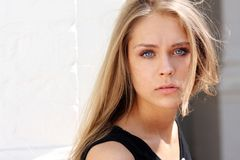 Beautiful young woman - blue eyes Royalty Free Stock Image