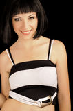 Beautiful young woman with bob hairstyle Royalty Free Stock Photography