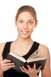 Beautiful young woman with book Royalty Free Stock Photo
